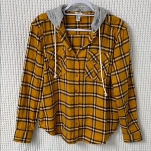 NWOT Yellow Flannel